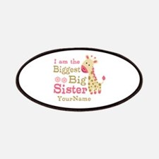 Biggest Big Sister Personalized Pink Giraffe Patch