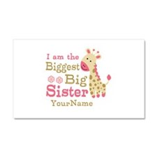 Biggest Big Sister Personalized Pink Giraffe Car M