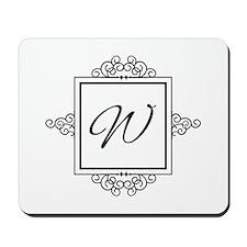 Fancy letter W monogram Mousepad
