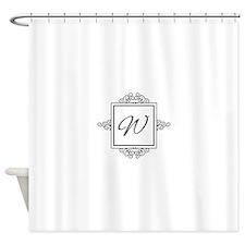 Fancy letter W monogram Shower Curtain