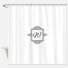 Fancy letter W monogram Shower Curtain