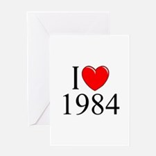 """""""I Love 1984"""" Greeting Cards"""