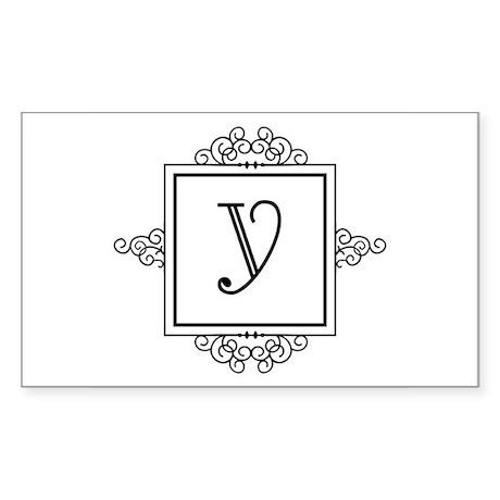 Fancy letter Y monogram Sticker