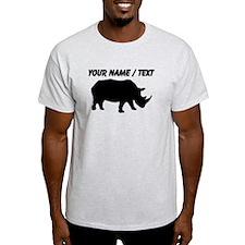 Custom Rhinoceros Silhouette T-Shirt