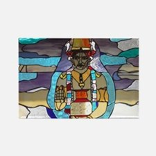 Dhanvantari Stained Glass Panel Magnets