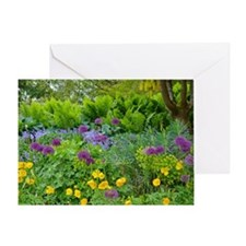 Lush green summer garden Greeting Card