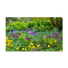 Lush green summer garden Rectangle Car Magnet