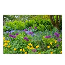 Lush green summer garden Postcards (Package of 8)