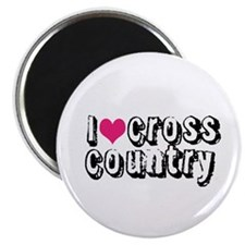 I Heart (Love) Cross Country Magnets