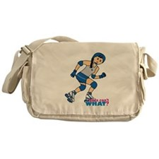 Roller Derby Girl Medium Messenger Bag