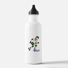 Roller Derby Girl Light/Red Water Bottle