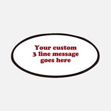 Three Line Custom Message Patches