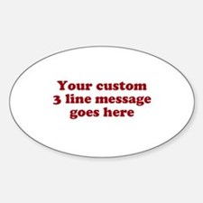 Three Line Custom Message Decal