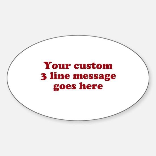 Three Line Custom Message Decal