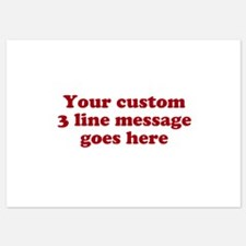 Three Line Custom Message Invitations