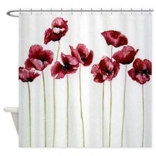 Poppy Family - Shower Curtain