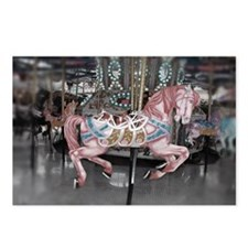 Pretty carousel horse Postcards (Package of 8)