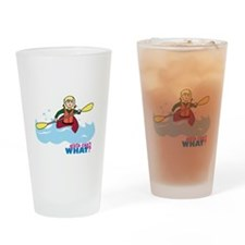 Girl Kayaking Light/Blonde Drinking Glass