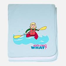 Girl Kayaking Light/Blonde baby blanket
