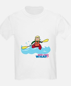 Girl Kayaking Light/Blonde T-Shirt