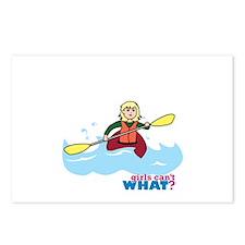 Girl Kayaking Light/Blonde Postcards (Package of 8
