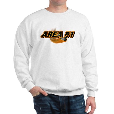 Area 51 Logo Orange Sweatshirt