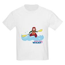 Girl Kayaking Light/Red T-Shirt
