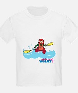 Girl Kayaking Light/Red T-Shirt