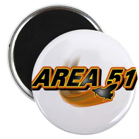 Area 51 Logo Orange Magnet