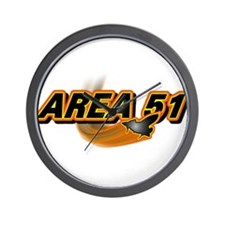 Area 51 Logo Orange Wall Clock