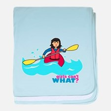 Girl Kayaking Medium baby blanket
