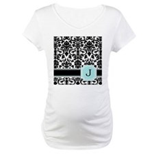 Letter J Black Damask Personal Monogram Shirt