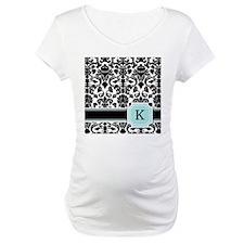 Letter K Black Damask Personal Monogram Shirt