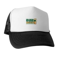 Irish to drink beer with a pint and a shamrock Hat