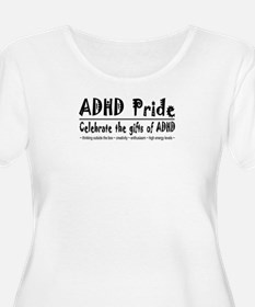 ADHD Pride women's plus-size scoop-neck T