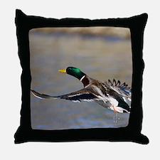 duck in flight Throw Pillow