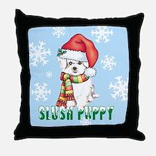 Holiday Maltese Throw Pillow