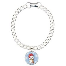 Holiday Maltese Charm Bracelet, One Charm