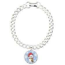 Holiday Maltese Charm Bracelet, One Charm