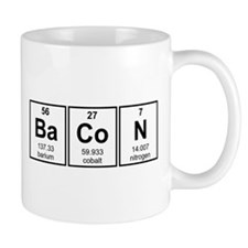 Bacon Periodic Table Element Symbols Mugs