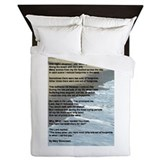 Footprints in the sand Duvet Covers