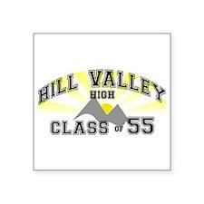 "Hill Valley High BTTF Square Sticker 3"" x 3"""
