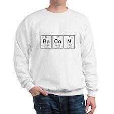 Bacon Periodic Table Element Symbols Sweatshirt