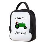 Green Tractor Junkie Neoprene Lunch Bag