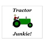 Green Tractor Junkie Small Poster