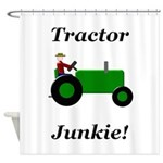 Green Tractor Junkie Shower Curtain