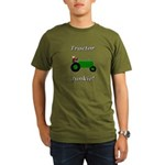 Green Tractor Junkie Organic Men's T-Shirt (dark)