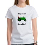 Green Tractor Junkie Women's T-Shirt