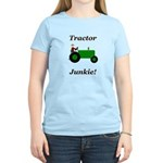 Green Tractor Junkie Women's Light T-Shirt