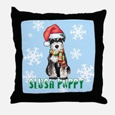 Holiday Miniature Schnauzer Throw Pillow